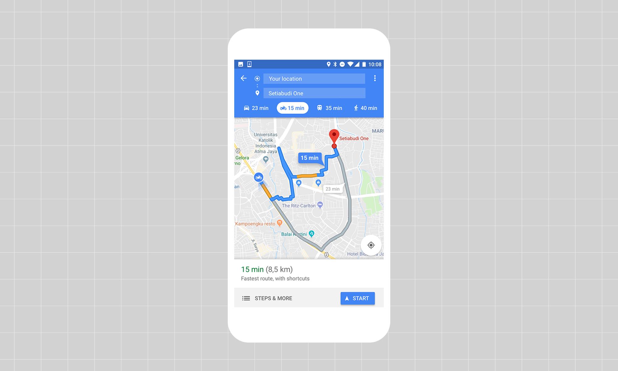 diseñando google maps para motos