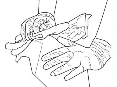 Preparación con exfoliante de plástico