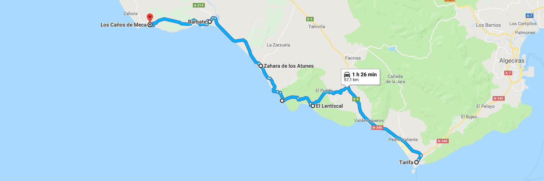 Ruta en Moto de Tarifa a Caños de Meca (Cádiz)