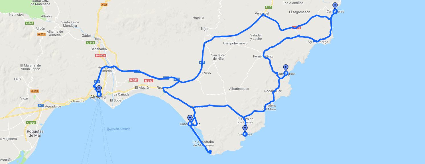 Ruta en Moto por el Cabo de Gata