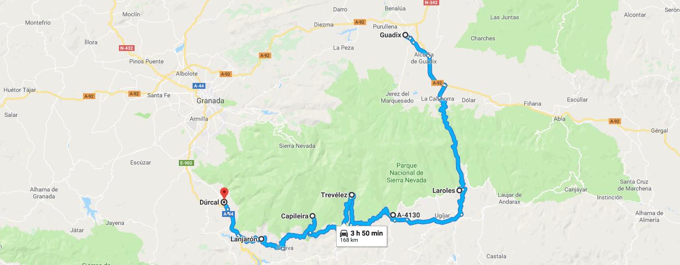 Ruta en Moto por la Alpujarra de Granada