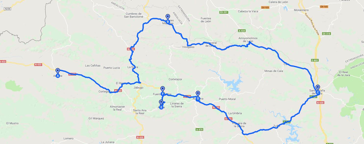 Ruta en Moto por la Sierra de Aracena y Aroche
